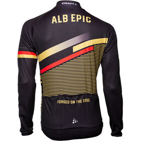 Craft Alb Epic 3.0 LS Jersey Men, negro/Dorado